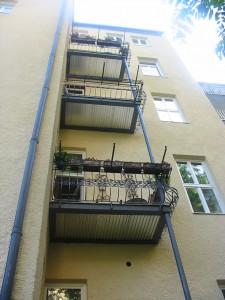 Balkonanlage Denkmalgeschützt